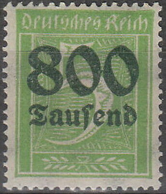 Stamp Germany Reich Mi 301 Sc 261 1923 Inflation Number Rectangle Overprint MH