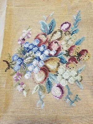 Vintage NEEDLEPOINT TAPESTRY to Complete NOS.
