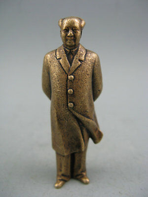 Rare Old Chinese Brass Handwork great leader Chairman Mao Collectible Statue
