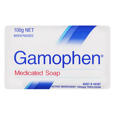 NEW Gamophen Soap Medicated With Triclosan Provides Antibacterial Action 100g
