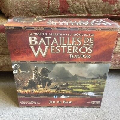 OFFICIAL A GAME OF THRONES BOARD GAME with 138 figures - FRENCH VERSION NEW