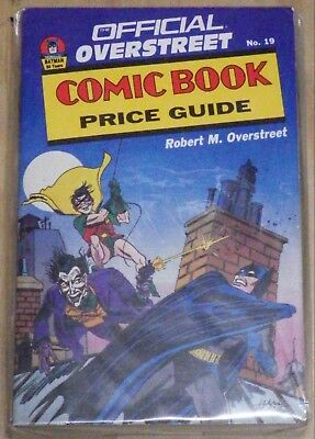 Official Overstreet #19 Comic Book Price Guide; Batman Cover Very Good Condition