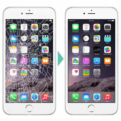 Apple iPhone 6 Plus Cracked Glass Broken Screen Repair Mail in Service OEM