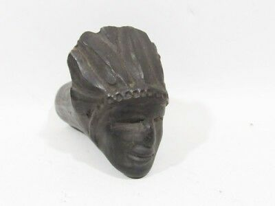 Antique Clay/pottery  Smoking Pipe Bowl, Native American Chief Head