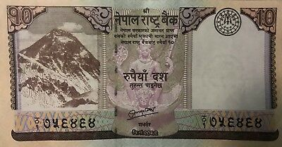 Nepalese Bank Note Rupees 10 Mt. Everest 2012