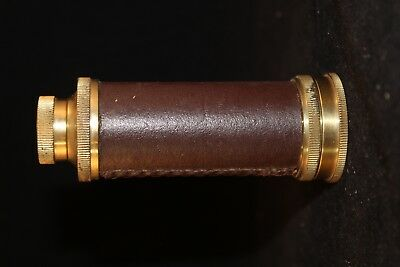 Ross London Brass and Leather Spy Glass Telescope