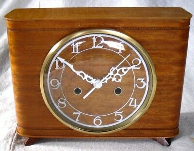 Vintage 1950-60s Smiths Wooden Mantel Clock,Digital Conversion,Fully Restored.
