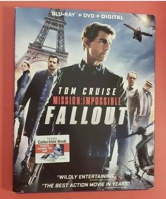 Mission Impossible Fallout Blu ray, No DVD +NO Digital LIKE NEW