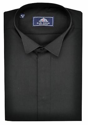 Rael Brook Mens Formal Wing Collar Shirt in Black