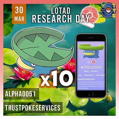 Pokemon Go Clamperl Day Guaranteed Capture! Lot of 8 catches - Research Day