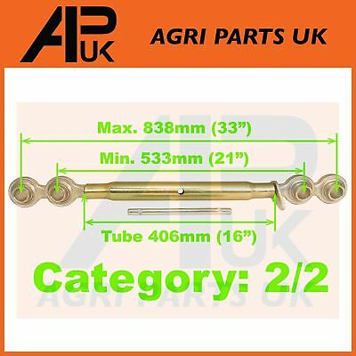 "533mm (21"") - 838mm (33"") Cat 2/2 Tractor Top Link 16"" Tube 3 Point Linkage"