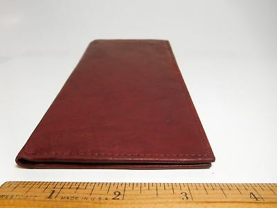 Marshal Soft Leather Padded Checkbook Cover-1 Card Slot-Pen Holder-Seconds#156CF
