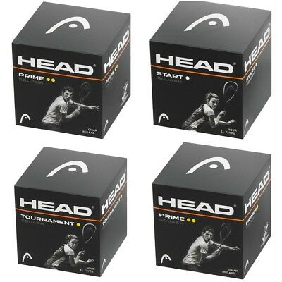 Head Tournament Squash Balls - Single Yellow, Single White , Double Yellow