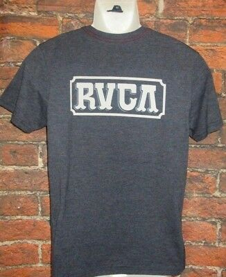Mens Rvca Charcoal Dark Gray T-Shirt Size M
