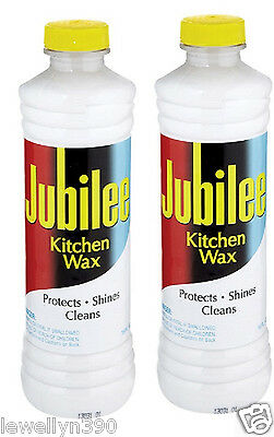 2 Bottles of Jubilee Kitchen Wax  Protects, shines and cleans
