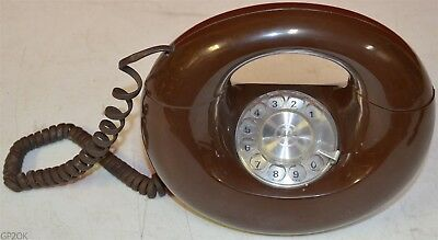 Western Electric Vintage Rotary Dial Donut Phone ~ Brown
