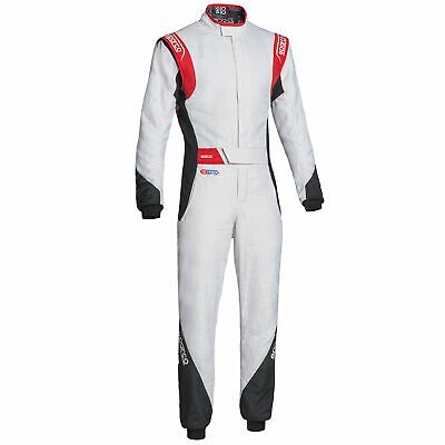 Sparco Eagle RS-8.2 Race Suit - White/Black/Red - Size 48