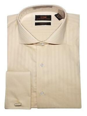 50156cc78ca Dress Shirt Only by Steven Land Trim Classic Fit French Cuff -Cream-TW634-CR