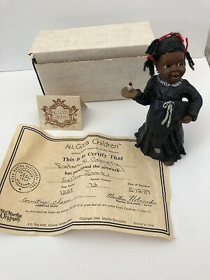 Stamped All God's Children Figurine SELINA JANE Black Americana COA And BOX