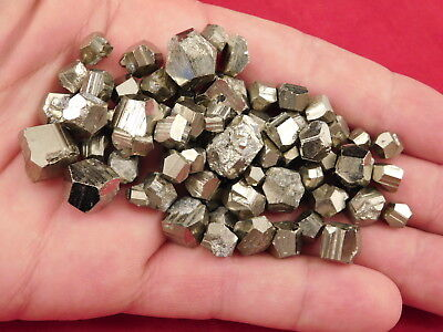 A HUGE! Lot of Small 100% Natural RHOMBIC PYRITE Crystals From Peru! 102gr e