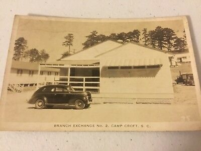 Vintage WWII Branch Exchange No. 2 Camp Croft, SC Postcard RPPC