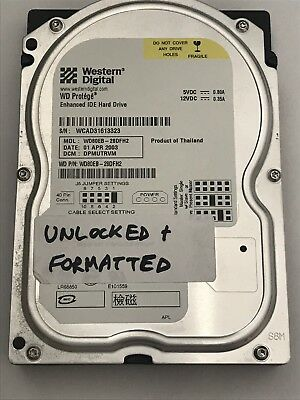 10 Lot Western Digital 8 GB IDE PATA Hard Drive HDD Tests Run PC Work Perfectly!