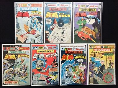 BRAVE AND THE BOLD Lot of 7 DC Comic Books - Run #123-129 - Batman!