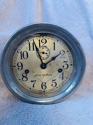 Antique Seth Thomas Double Wind Maritime Ship Clock R-20704