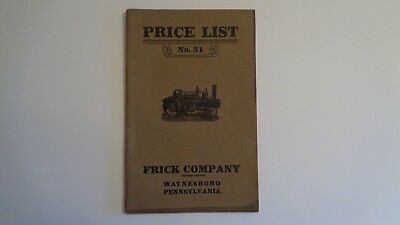 Frick Company Price Guide No. 51 - Eclipse Engines - Ca. 1915 -  Corliss