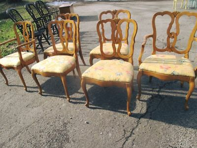 Upholstered Dining Chairs. Thomasville Set of 6 French Style Dining Chairs