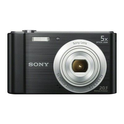 Sony DSC-W800 Cyber-shot 20.1MP Digital Camera - Black - new open box & extras