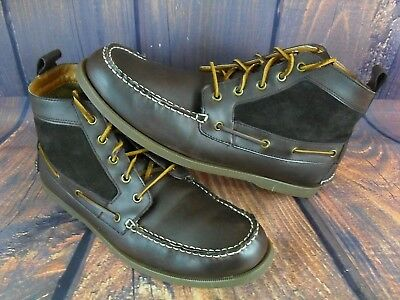 6fa504e2ca7f3 Tommy Hilfiger Men s Ankle Boots Chukka Brown Leather Suede Fashion Billie  13M