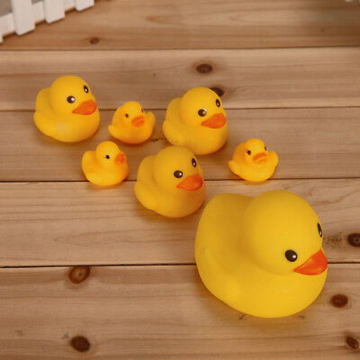 Cute Baby Kids Bath Toys Squeaky Rubber Ducks Water Fun Game Playing Toy