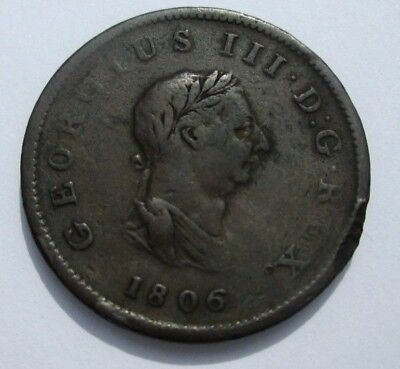 Circa 1806 King George Iii Farthing From A Commodore's Estate # 239