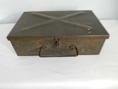 Vintage military metal carry box dated 1954 WMP