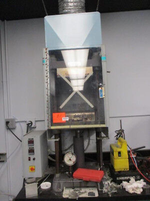 """30 Ton 12"""" x 12"""" Bed Carver 4128 Hydraulic Heated Platen Press Upacting Bench"""