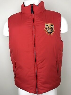 Polo Ralph Lauren Boy's 381 Bleeker REVERSIBLE Down Vest Size XL 18-20 RL CO NYC