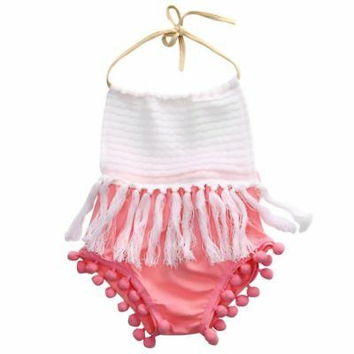 Outfits Girls Sleeveless Strap Romper Ruffle  Sunsuit Baby Tassels Jumpsuit