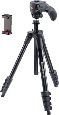 "Manfrotto -MKSCOMPACTACN-BK Compact Action 61"" Tripod - Black"