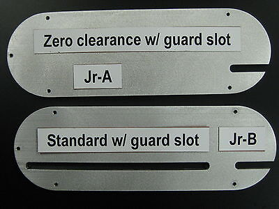 UNISAW JUNIOR INSERT PLATES - new billet aluminum - several new styles to choose