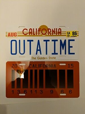 Back To The Future License Plates - Outatime and Future Plates