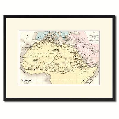 Ancient Africa Vintage Antique Map Wall Art Home Decor Gift Ideas Canvas Print C
