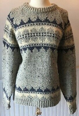 GAELTARRA Mens 100% Pure Wool Crewneck Sweater - Sz. 44 - L - Made in IRELAND