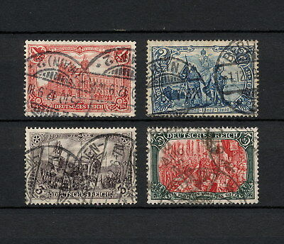 (YYAA 222) GERMANY 1905 USED Mich 94AI - 97AI Sc 92 - 95 Deutsches Reich