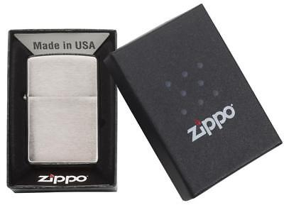 Zippo Lighter #200 Classic Brushed Chrome Design Windproof[MSRP $16.95]