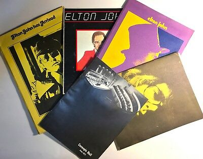 Elton John Memorabilia; early 70s; Various promotional folders and tour programs