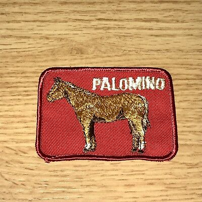 Vintage 1970s Palomino Horse Patch Pony Western Equestrian Riding NOS