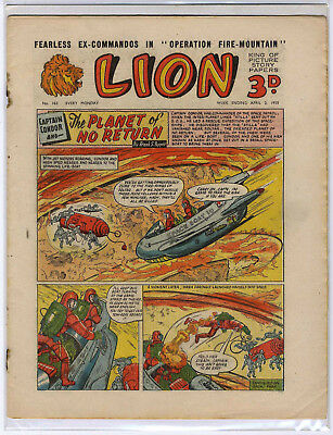Lion 2nd April 1955 (#163, high grade) Captain Condor, Amazing Advs of Mr X