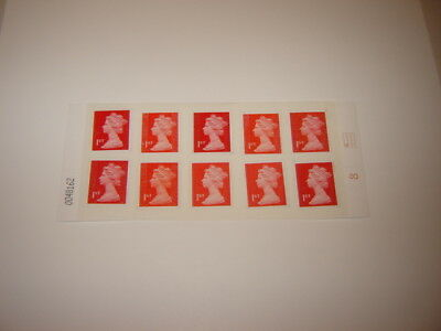 10 X  1St  Class Security  Stamps On Easy Peel And Stick Paper