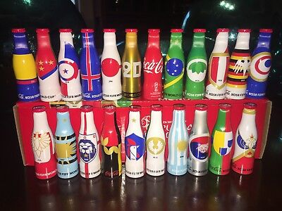 Coca Cola MEXICO set 22 bottles.  Mini Mundialistas RUSIA 2018 World Cup.